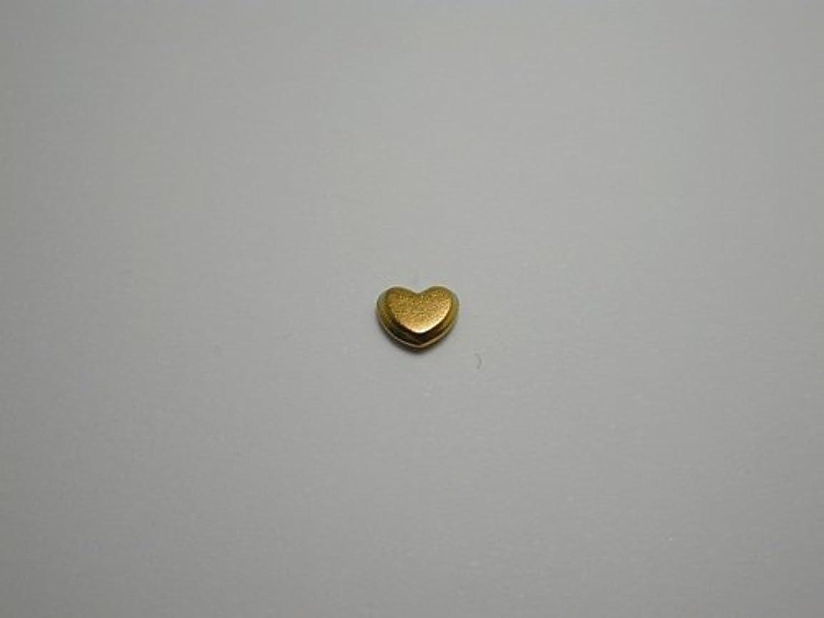 溶融クリーク連続的純チタンピアス 片耳 ハート 純チタンゴールド 金属アレルギーの方も安心
