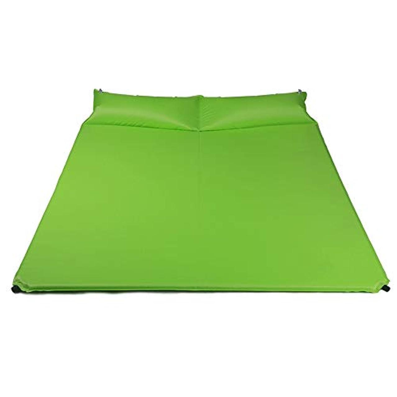 くさび起業家彼女自身Jia Xing インフレータブルクッション防湿キャンプ自動インフレータブルベッドクッションダブルベッド大人用ダブルエアーベッドキャンプエアーベッドエアーベッド エアベッド (Color : Green)