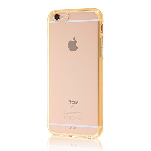 レイ・アウト iPhone6 ケース カラフルソフトシェルジャケット シャンパンゴールド RT-P7CC2/TG