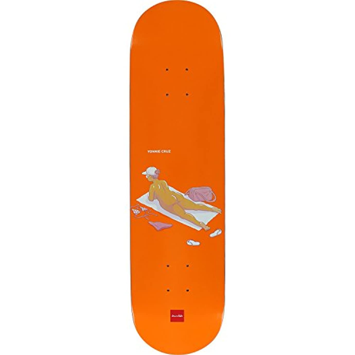 宣言放射能レギュラーChocolate Cruz Sun Bathers Deck -8.0 - 完全スケートボードの組み立て品