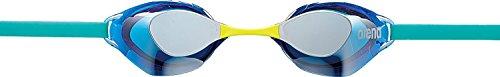 arena(アリーナ) 水泳用ゴーグル くもり止め ノンクッションタイプ(ミラー加工) アクアフォース スイフト AGL-130M シルバー×ブルー フリーサイズ