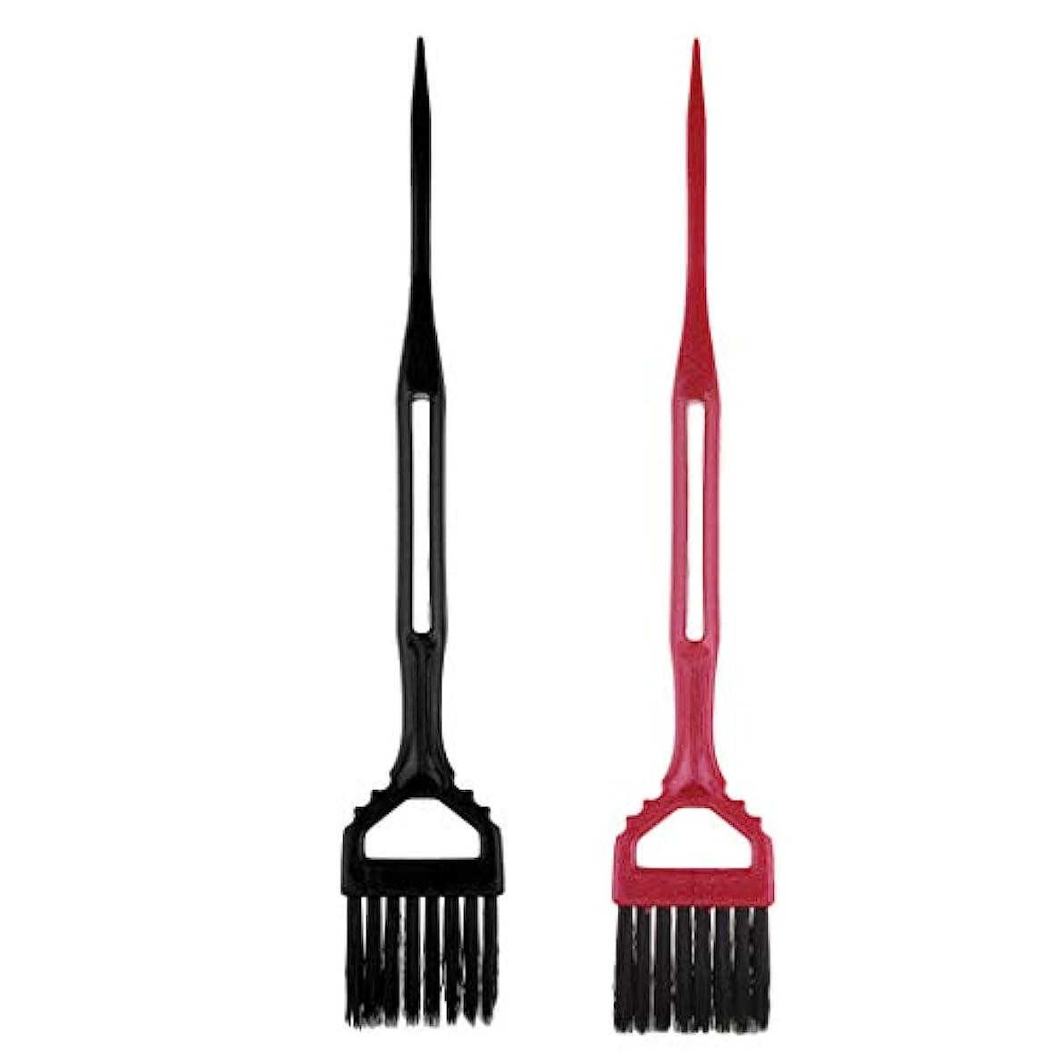 経験的最悪なぜToygogo 2サロン理髪髪染め櫛分布ブラシツールのセット髪型染め染め櫛ツール