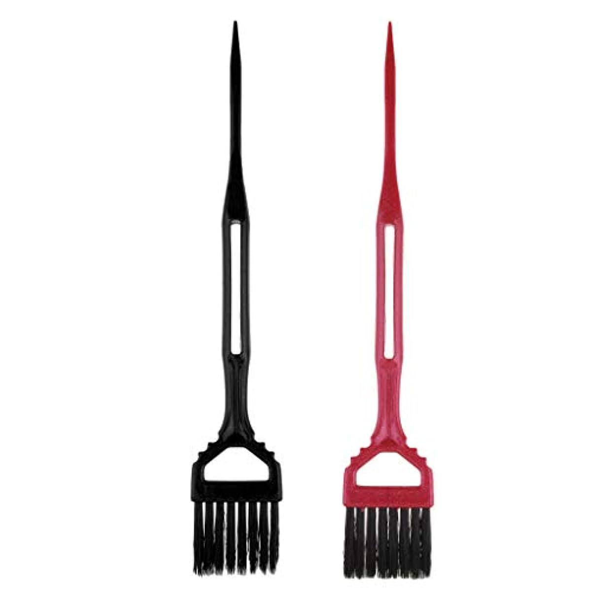 セグメント適応的死にかけているToygogo 2サロン理髪髪染め櫛分布ブラシツールのセット髪型染め染め櫛ツール