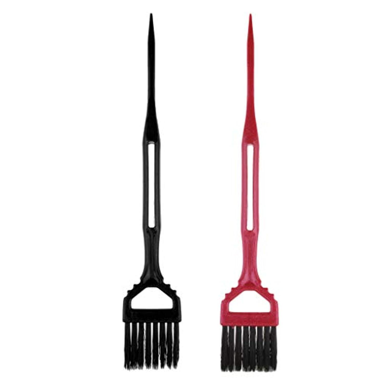 豊かにする急ぐ準備したToygogo 2サロン理髪髪染め櫛分布ブラシツールのセット髪型染め染め櫛ツール