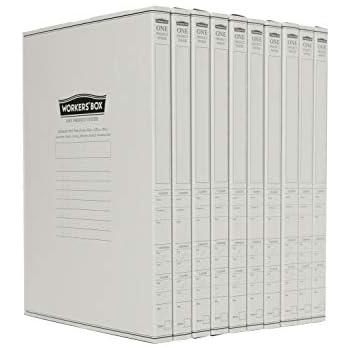 ハイモジモジ ワーカーズボックス 紙製A4書類収納箱 10冊セット HMWB-1815