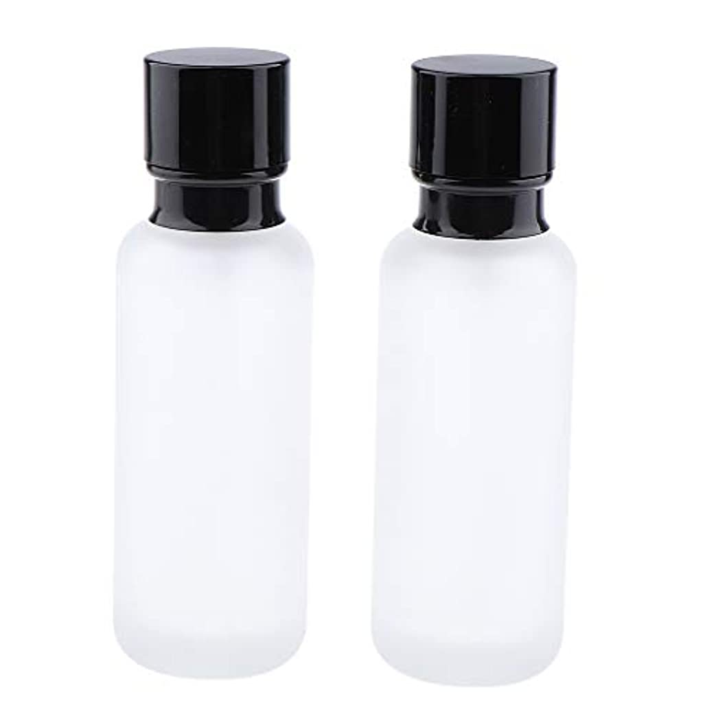 存在六月対処T TOOYFUL 2個入り 化粧ボトル ポンプボトル ローションジャー ガラス コンテナ 50/120ml 全2サイズ - 120ミリリットル