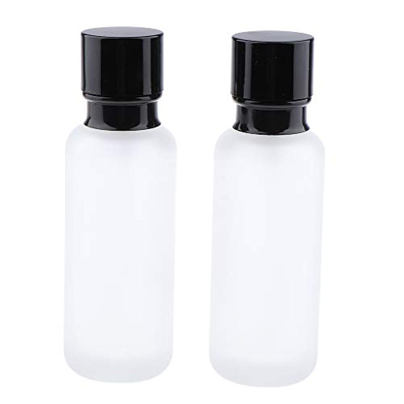 是正平日スリーブT TOOYFUL 2個入り 化粧ボトル ポンプボトル ローションジャー ガラス コンテナ 50/120ml 全2サイズ - 120ミリリットル