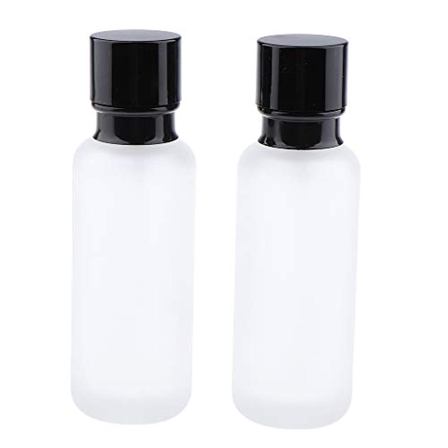 馬鹿教会別にT TOOYFUL 2個入り 化粧ボトル ポンプボトル ローションジャー ガラス コンテナ 50/120ml 全2サイズ - 120ミリリットル