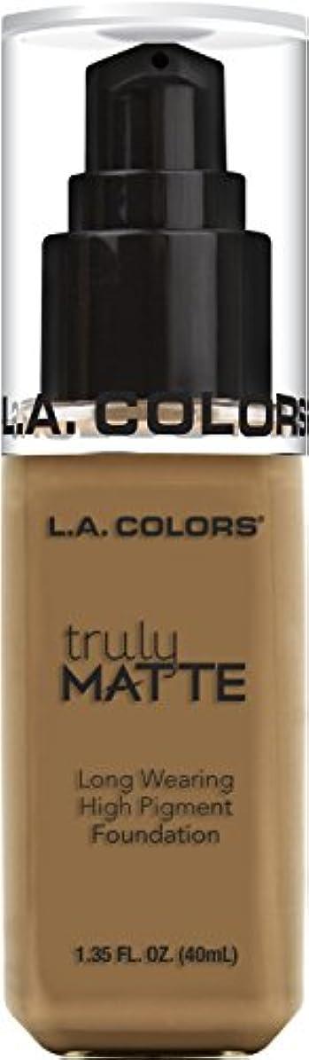 正規化一貫したスキャンダルL.A. COLORS Truly Matte Foundation - Warm Caramel (並行輸入品)