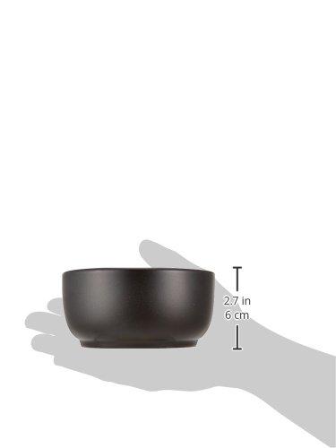 韓国食器 黒ビビンバ(ミニ) 台付き [器13.7 x 6.7cm 台18 x 14 x 1.2cm・内寸11.5cm] 萬古焼 直火 和食器 酒器...