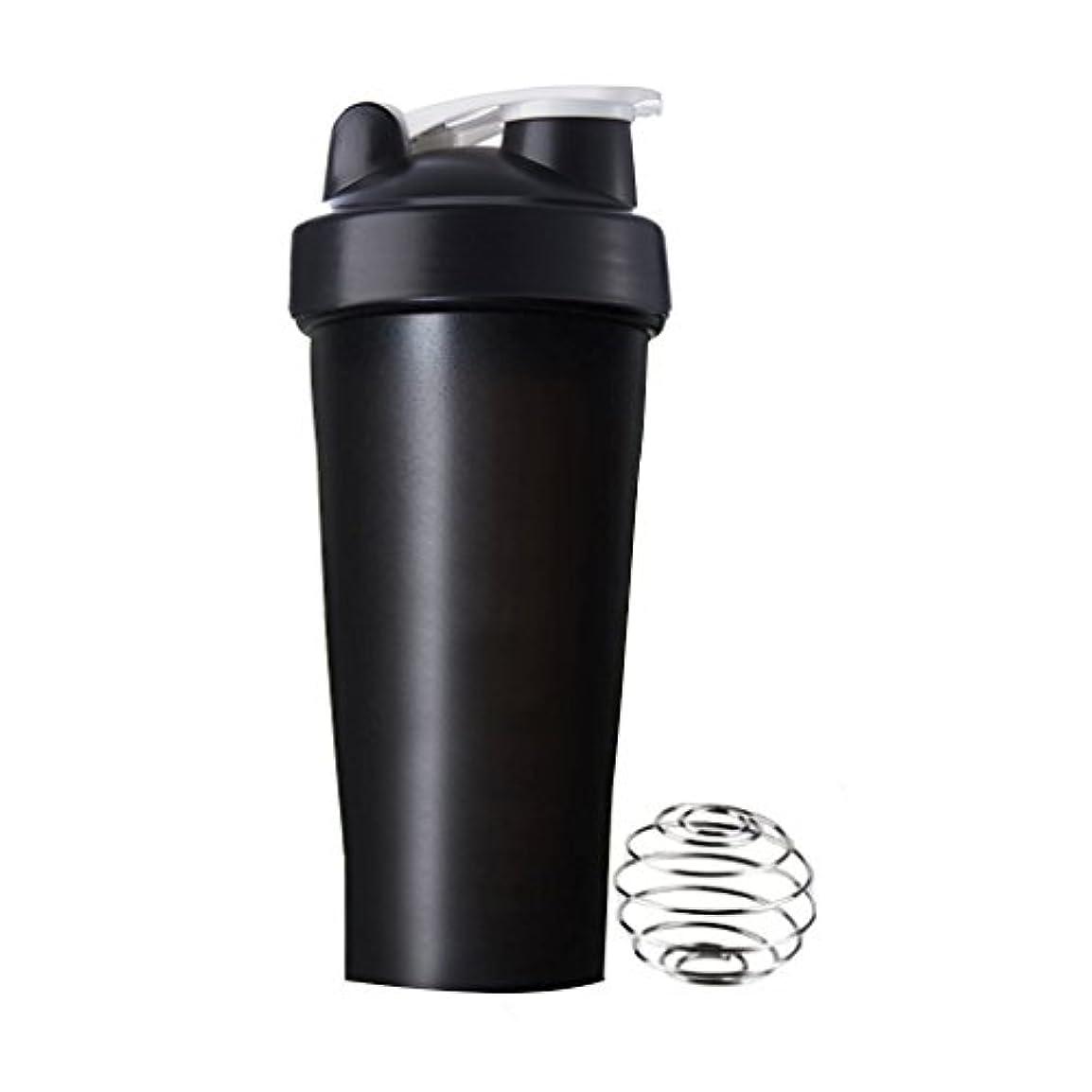 ドームおもしろい石油Sports Pro プロテインシェイカー 600ml シェーカーボトル (ブラック)