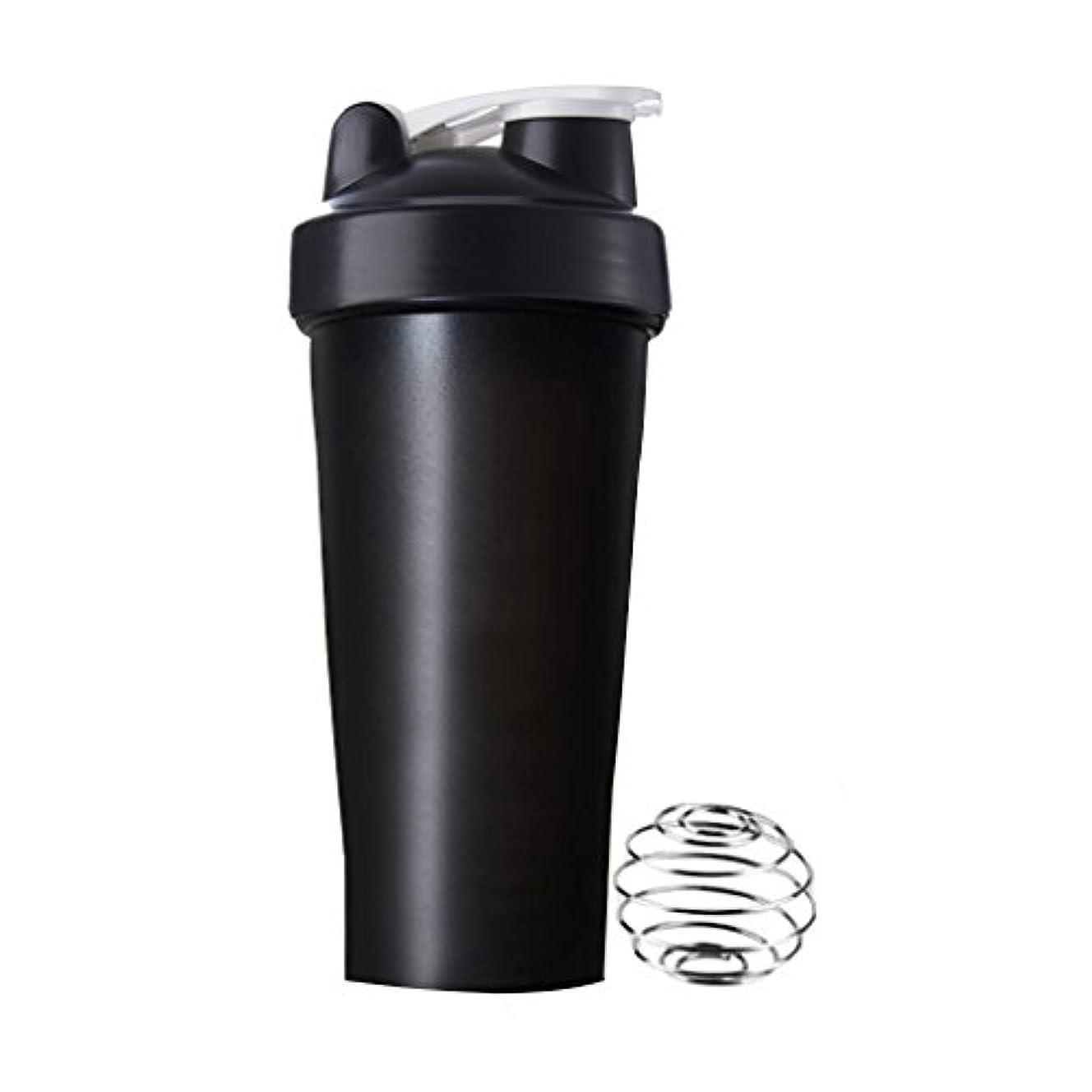 香港予算特性Sports Pro プロテインシェイカー 600ml シェーカーボトル (ブラック)