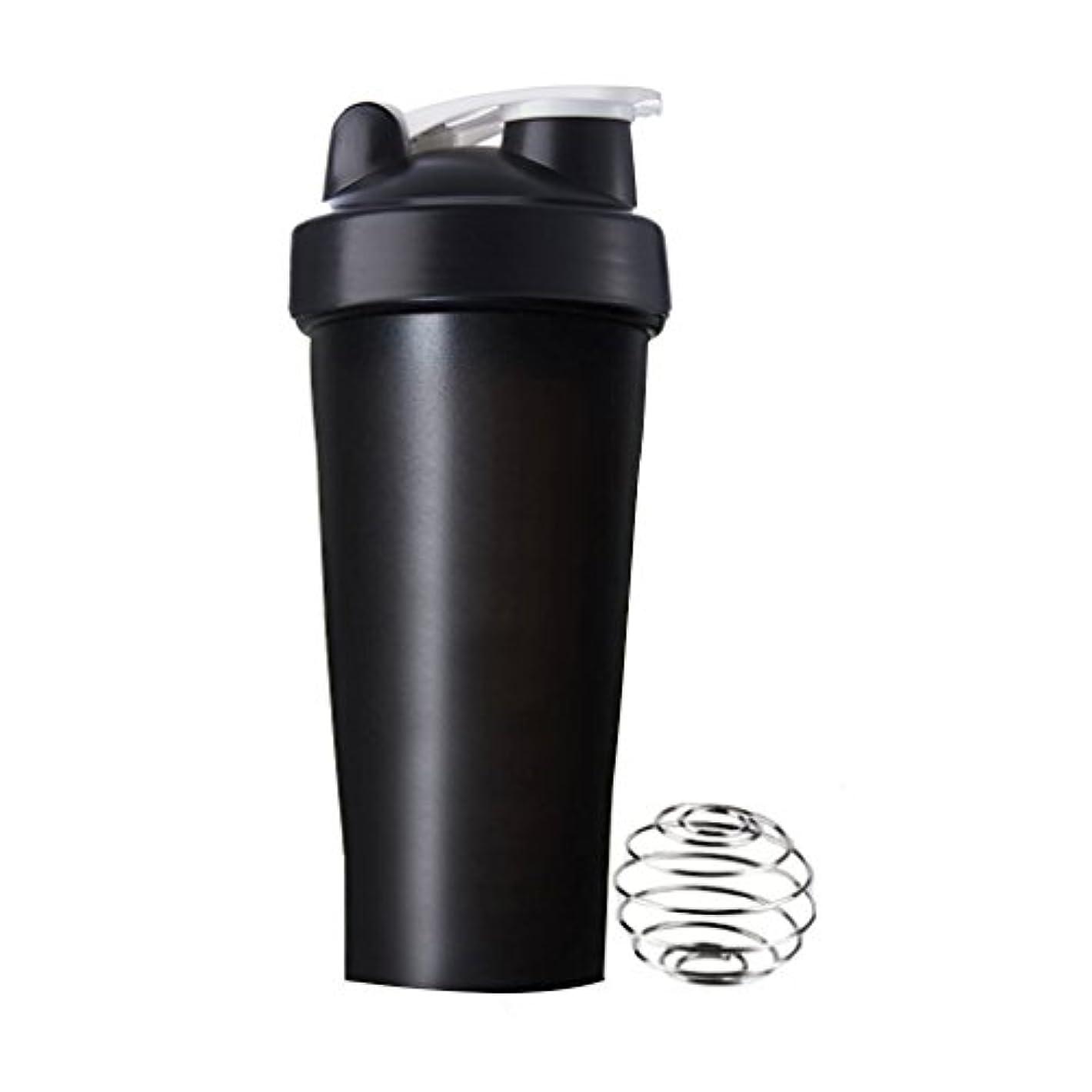 休憩スチュワードコスチュームSports Pro プロテインシェイカー 600ml シェーカーボトル (ブラック)