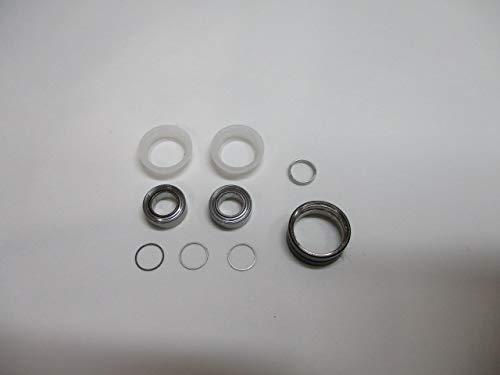 送込シマノ向4mm用ラインローラーコアプロテクトキャンセルキット[NMB:DDL740ZZ-2個,ブッシュ2個,0.8シム1枚,0.2シム3枚,ローラーアーム本体1]