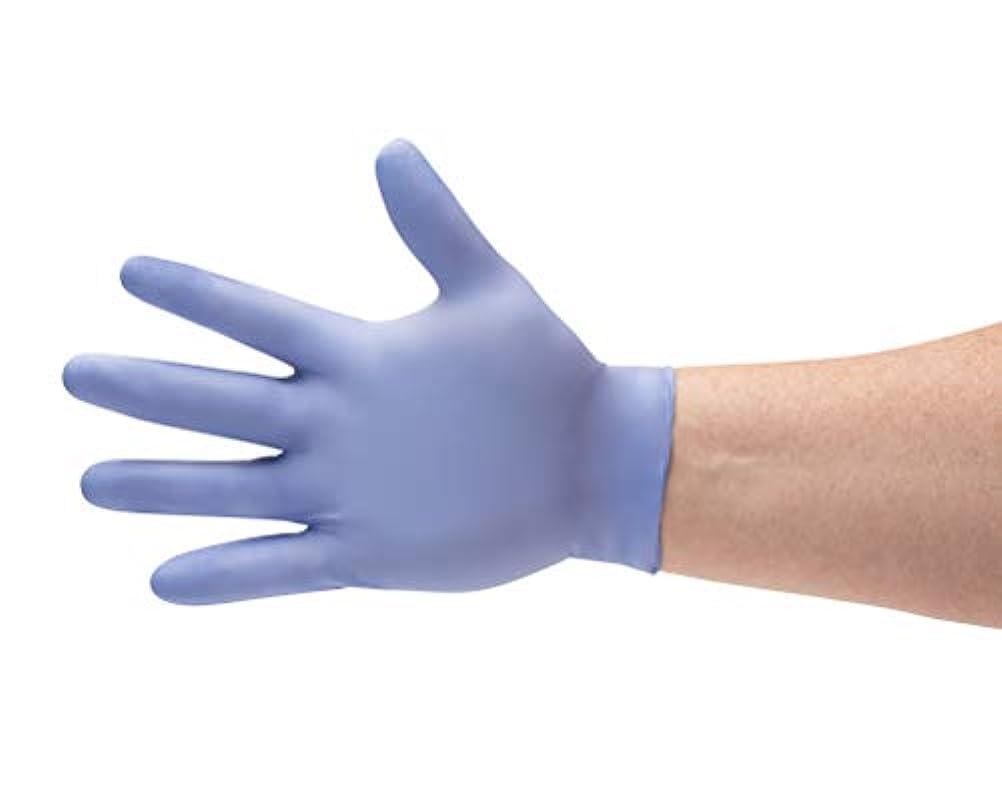 多様性恥ずかしいモディッシュミディアムサイズブルーニトリル化学防止、パウダーフリー医療試験手袋3.5 Mil 900-count by PSBM