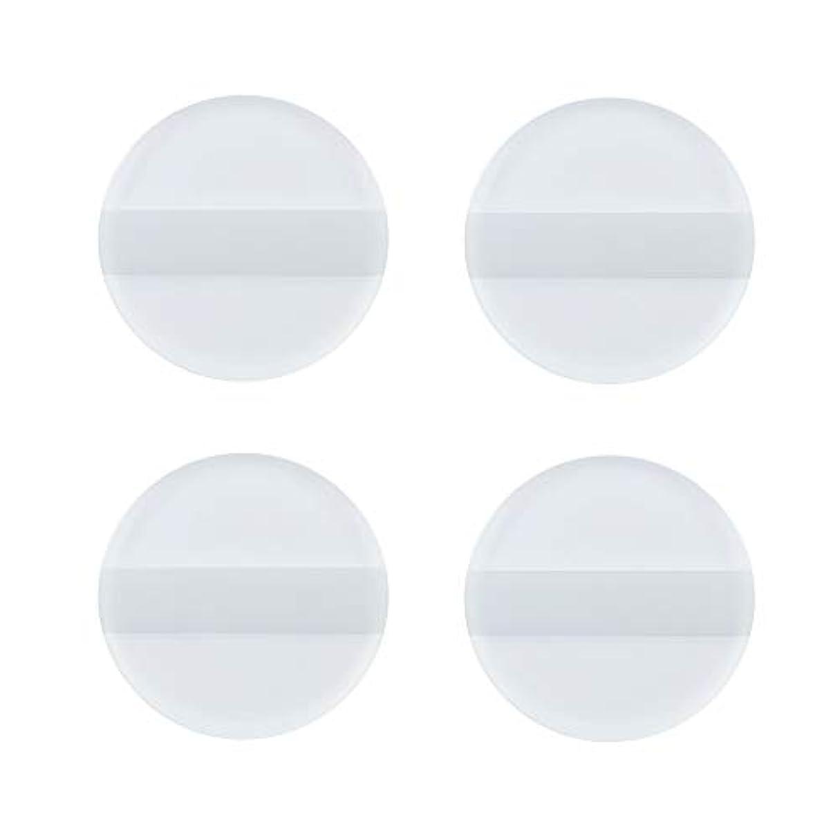 けん引一回娘SHARE BEAUTY シリコンパフ ゲルパフ ゼリーパフ 4枚入り 円形 柔らかい 透明 軽量 コンパクト ファンデーション吸収しない 化粧品を節約 清潔しやすい 衛生 メイク用 ケース付き
