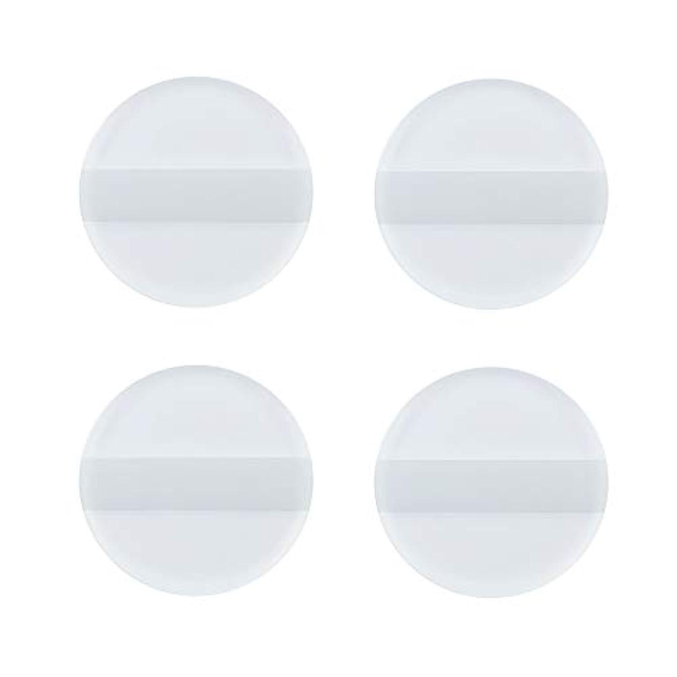 列車仲介者上へSHARE BEAUTY シリコンパフ ゲルパフ ゼリーパフ 4枚入り 円形 柔らかい 透明 軽量 コンパクト ファンデーション吸収しない 化粧品を節約 清潔しやすい 衛生 メイク用 ケース付き