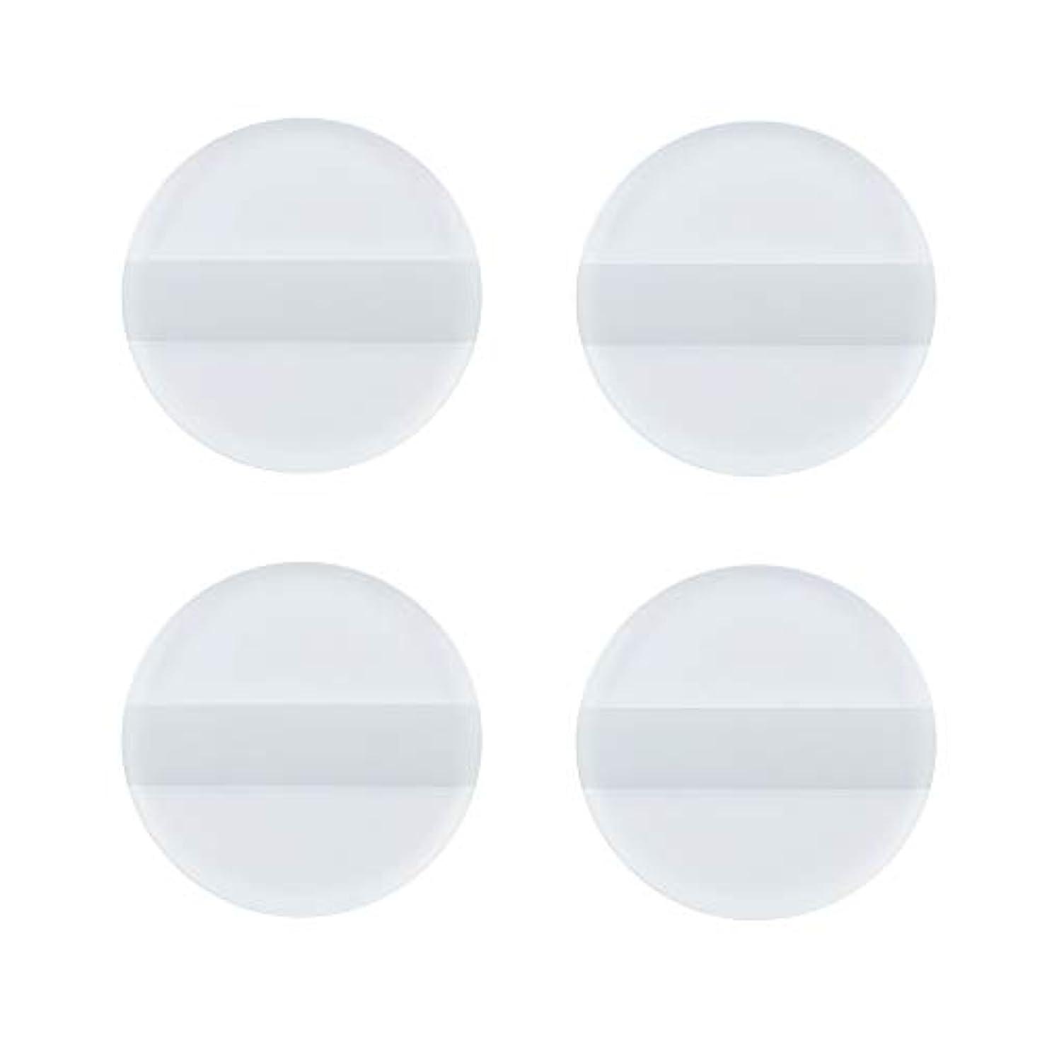 群がる命令リードSHARE BEAUTY シリコンパフ ゲルパフ ゼリーパフ 4枚入り 円形 柔らかい 透明 軽量 コンパクト ファンデーション吸収しない 化粧品を節約 清潔しやすい 衛生 メイク用 ケース付き