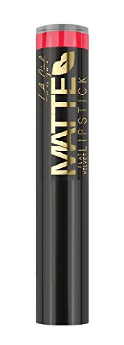 狂った谷願うL.A. GIRL Matte Flat Velvet Lipstick Hot Stuff (並行輸入品)