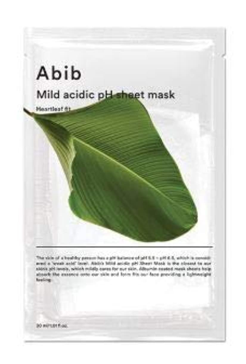 文言包括的再生ABIB MILD ACIDIC pH SHEET MASK_ HEARTLEAF FIT (#10枚) [並行輸入品]