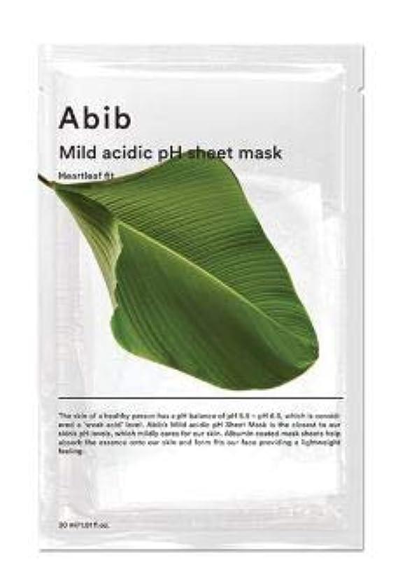 オーバーヘッド素子ヒールABIB MILD ACIDIC pH SHEET MASK_ HEARTLEAF FIT (#10枚) [並行輸入品]
