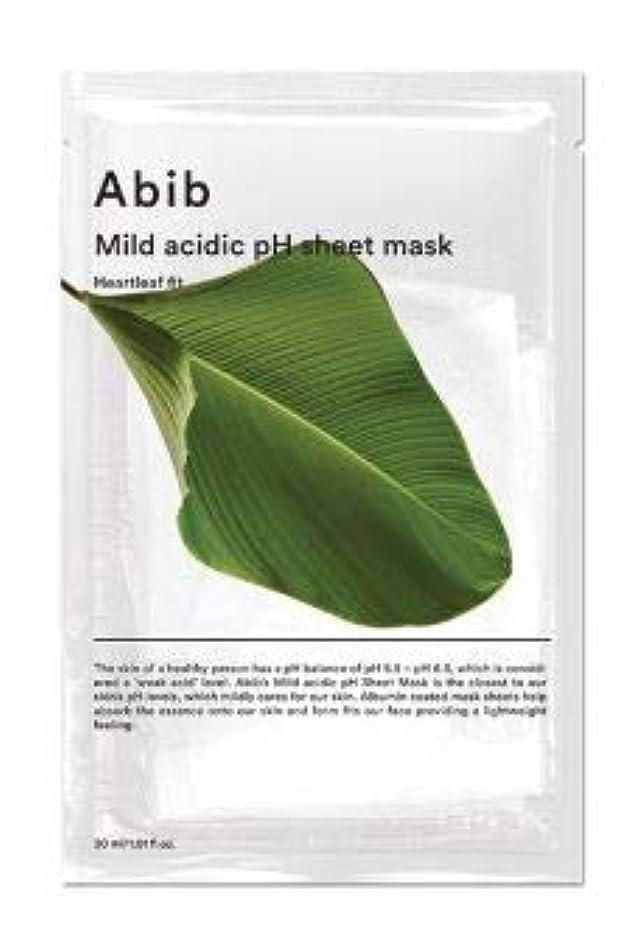 トーナメント固執放送ABIB MILD ACIDIC pH SHEET MASK_ HEARTLEAF FIT (#10枚) [並行輸入品]