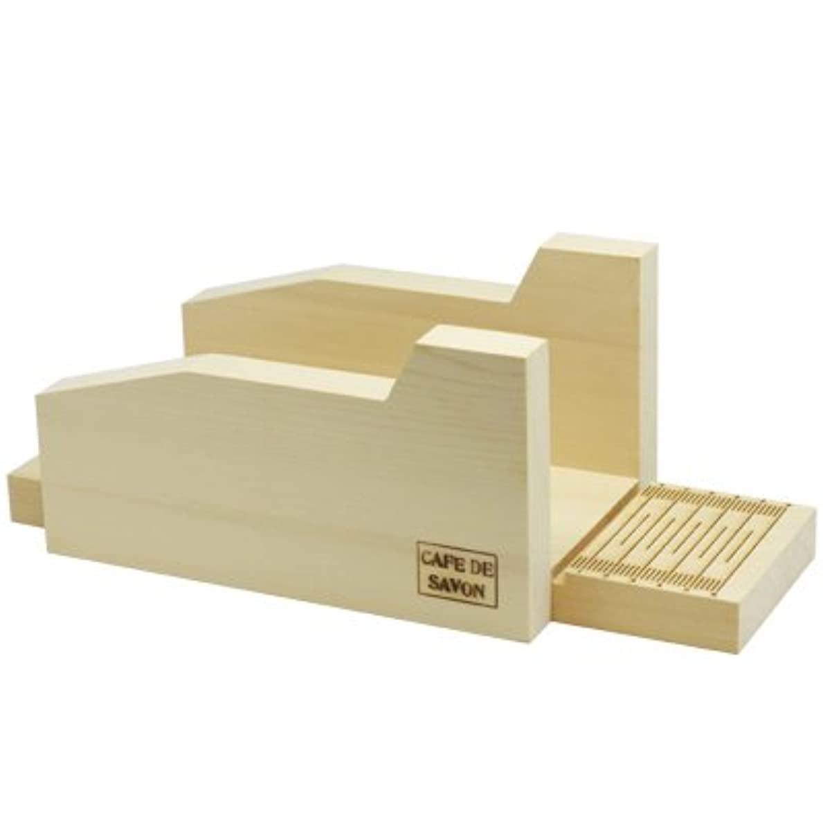 ピーブ差し控えるゆでるオリジナル 木製ソープカッター台