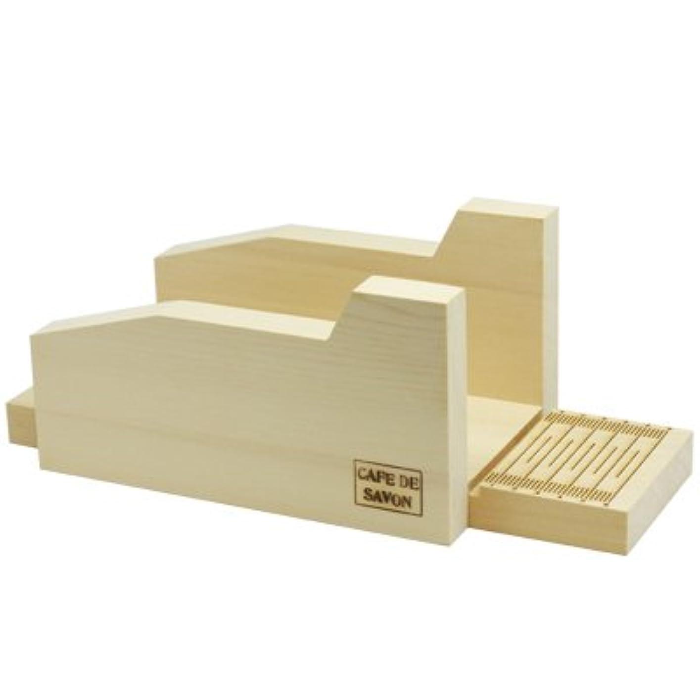 はぁ雪だるまスパンオリジナル 木製ソープカッター台
