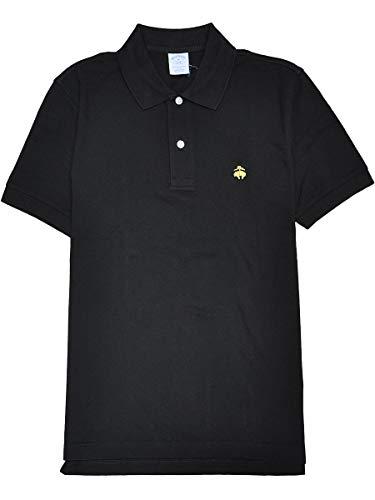 [Brooks Brothers(ブルックスブラザーズ)] ブルックス ブラザーズ メンズ 半袖 ポロシャツ Slim Fit 鹿の子 ブラック 黒 Mサイズ [並行輸入品]