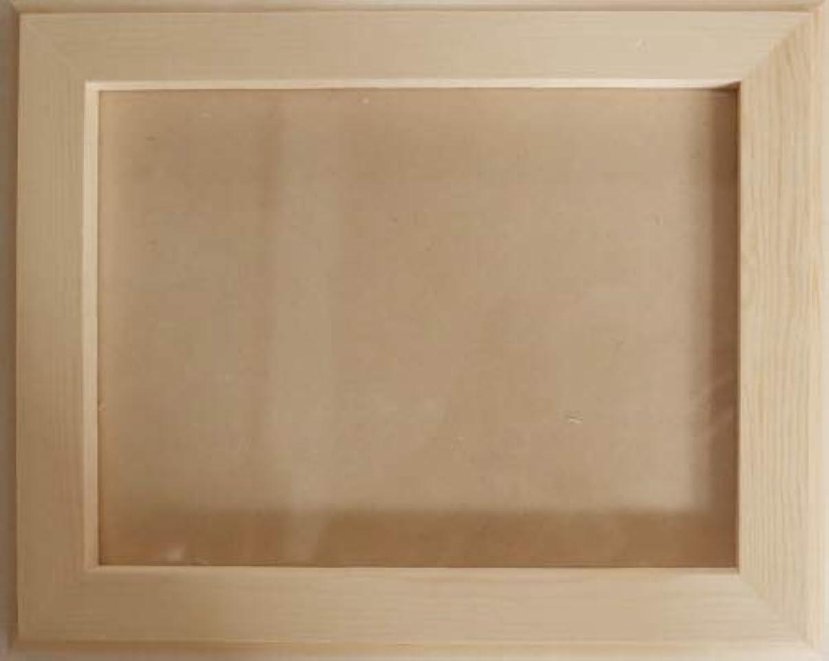 撤回するうるさいかわいらしい無塗装白木素材 フォトフレーム八つ切り cw-782 165×216