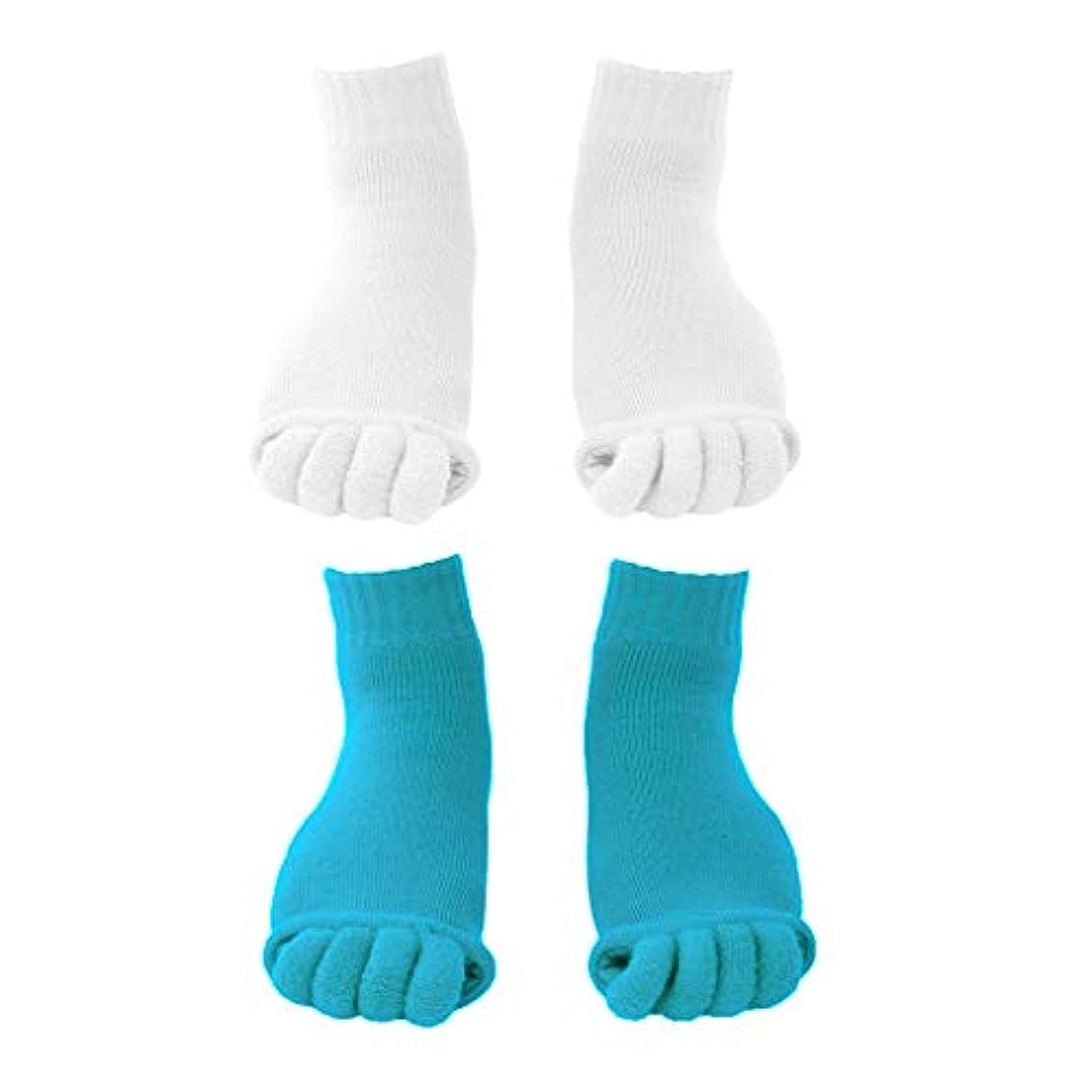 橋脚優しさワゴンdailymall 2ペアスポーツ5足セパレーターソックスフットアラインメントマッサージソックス疼痛緩和