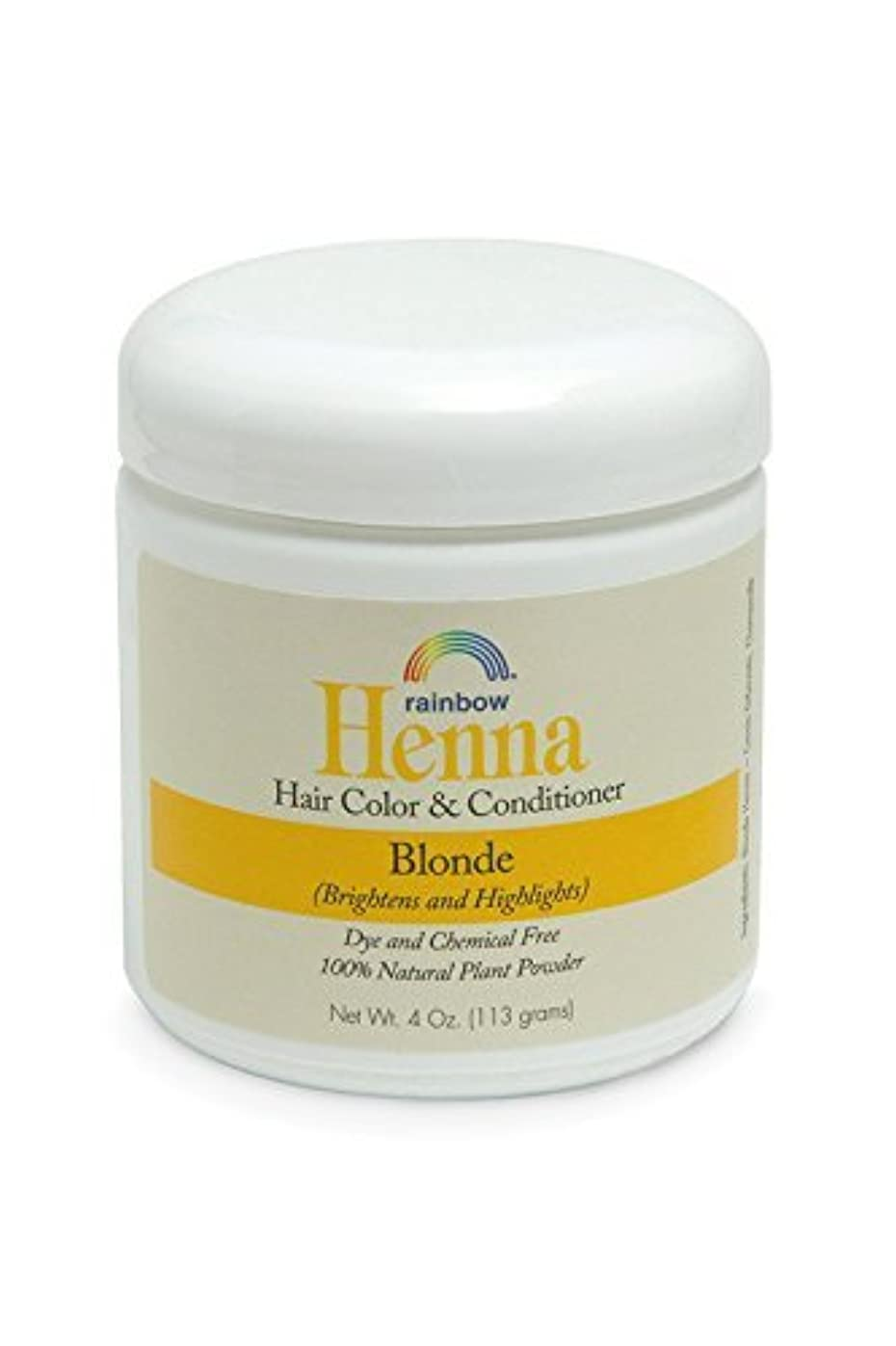 オレンジコンテンポラリー広がりRainbow Research Henna Persian Blonde Hair Color and Conditioner Organic 113 g (並行輸入品)