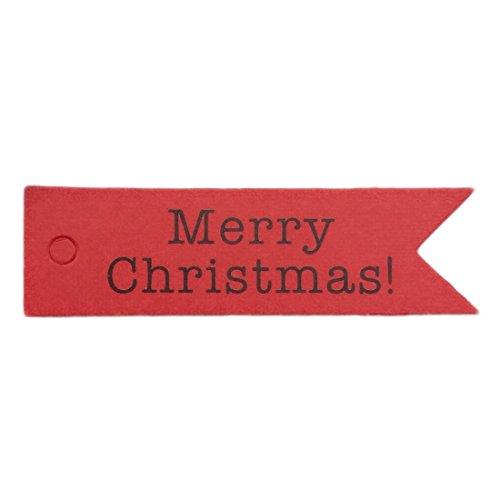 タグ メリークリスマス ラベル ハンギングカード DIY 紙...