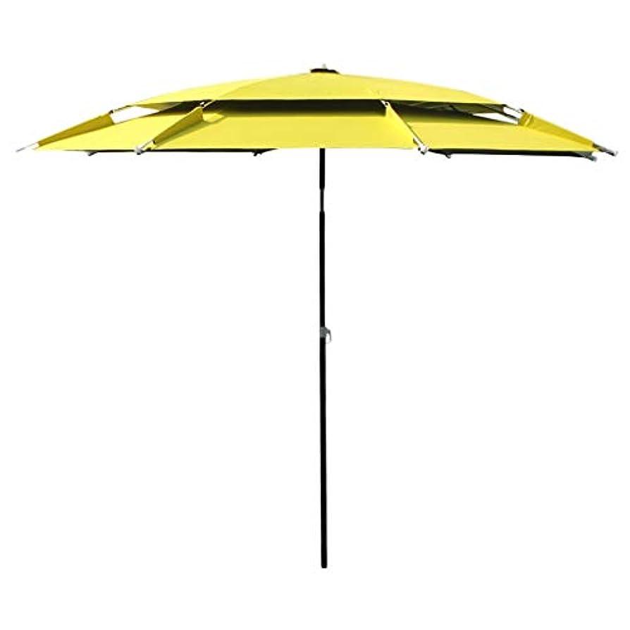 海外スコア同種の太陽傘アルミ合金オックスフォード回転日焼け止め雨折りたたみ傘屋外サンシェード傘 (サイズ さいず : Diameter2.2m)