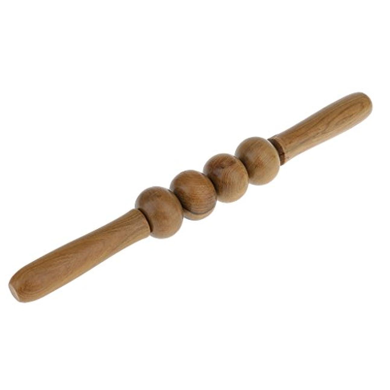 コウモリ交響曲一時的4つの車輪の木のローラーのマッサージャーの背部腹腕の足のマッサージの健康用具