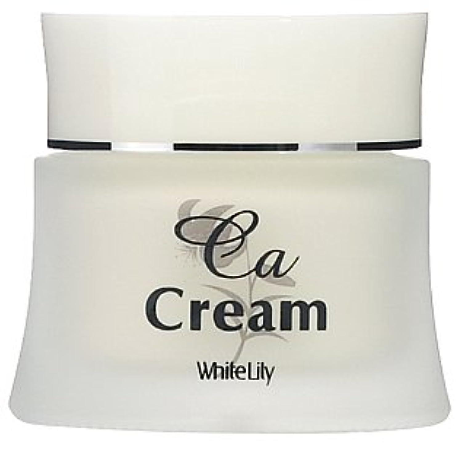 助けになるパフ導入するホワイトリリー CAクリーム 40g クリーム