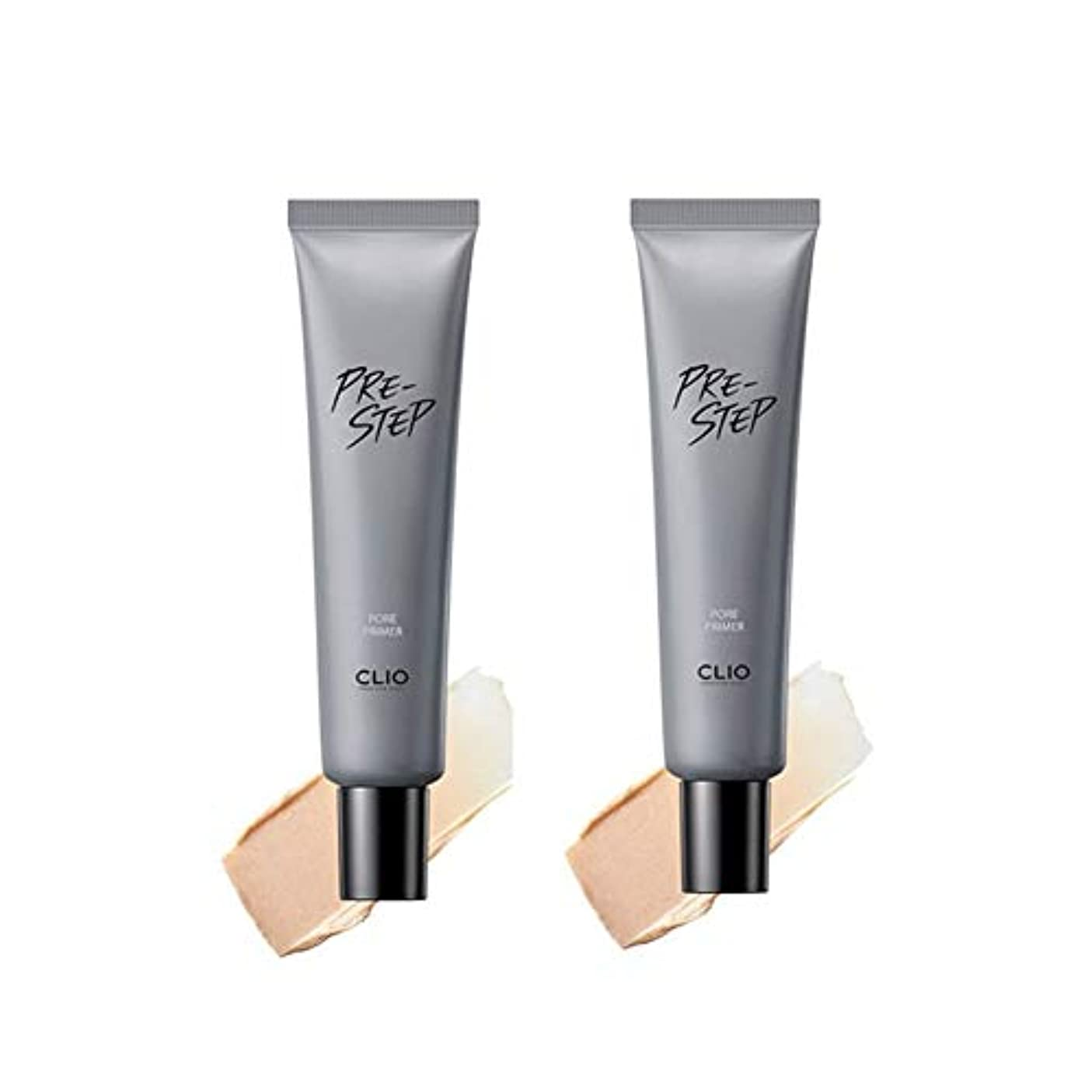 プログラム骨気を散らすクリオフリーステップフォアプライマー30mlx2本セット韓国コスメ、Clio Pre-Step Pore Primer 30ml x 2ea Set Korean Cosmetics [並行輸入品]