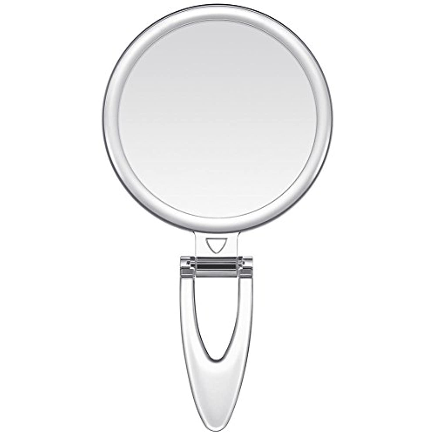 主流恥ずかしい快適Lavany 手鏡 鏡 拡大鏡 両面コンパクトミラー 化粧鏡 10倍鏡付き 手持ち スタンド 壁掛け仕様 (S(3.2インチ))