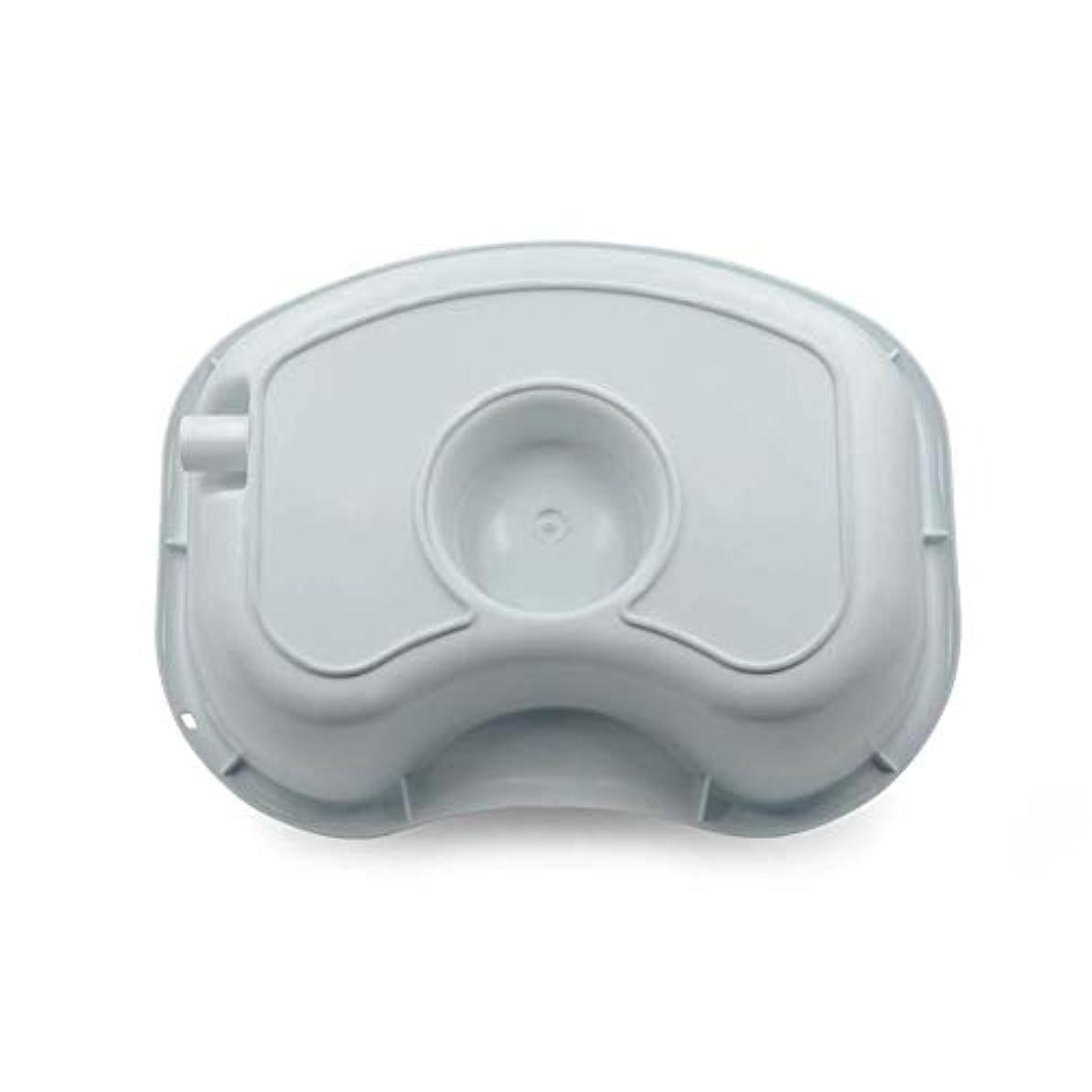 地味な周波数タクトメディカルペイシェントケアシャンプー洗面器-ベッドで洗髪、ポータブルメディカルイージーベッドシャンプープラスチック洗面器洗髪