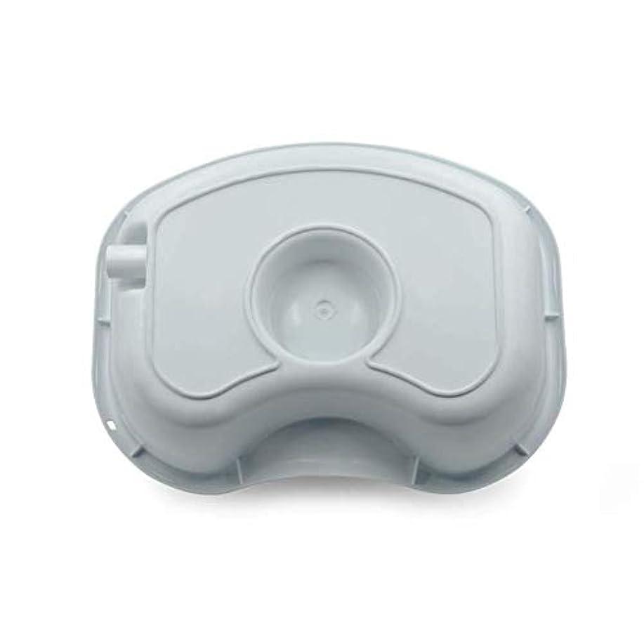 採用成功ナラーバーメディカルペイシェントケアシャンプー洗面器-ベッドで洗髪、ポータブルメディカルイージーベッドシャンプープラスチック洗面器洗髪