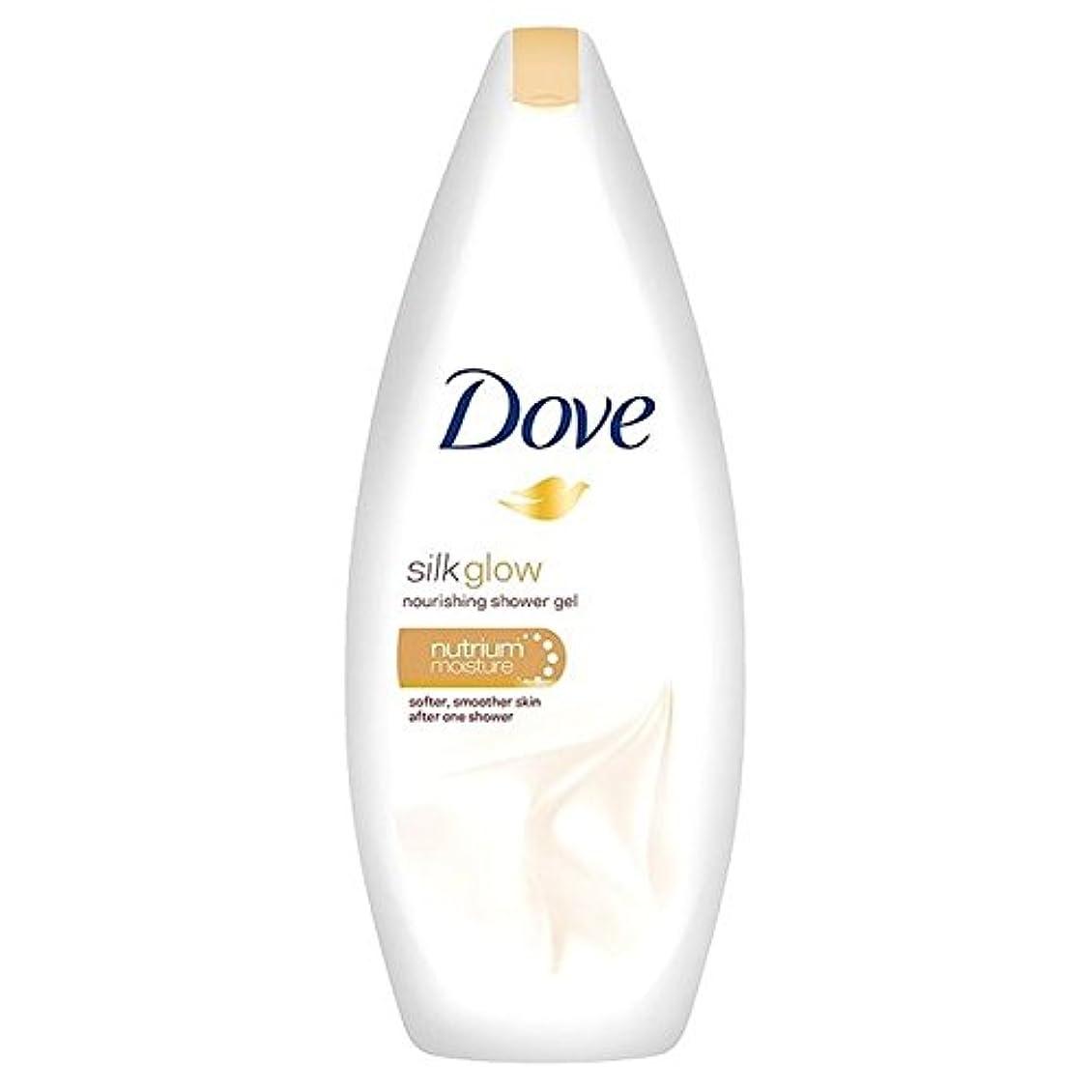 鳩のシルクは、栄養ボディウォッシュ250ミリリットルグロー x2 - Dove Silk Glow Nourishing Body Wash 250ml (Pack of 2) [並行輸入品]