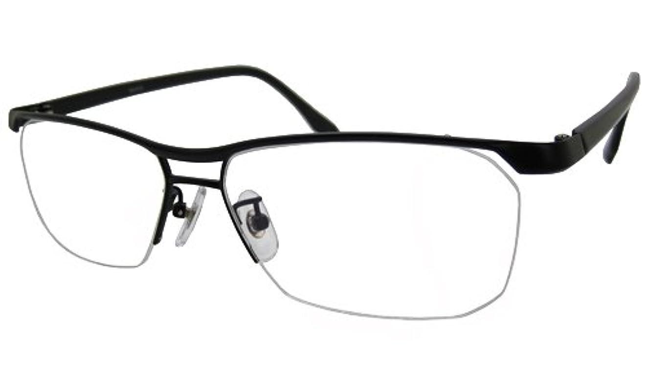 メタルフレーム ニコン?遠近両用メガネ (ブラック×ブラック)[全額返金保証]? 男性用 遠近両用メガネ? 日本製(瞳孔間距離:男性平均63mmで作成, 近用度数:+1.0)
