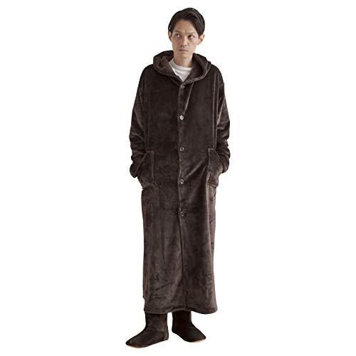 ナイスデイ 着る毛布 ブラウン Lサイズ mofua ヒートウォーム 発熱 +2℃ 60152306