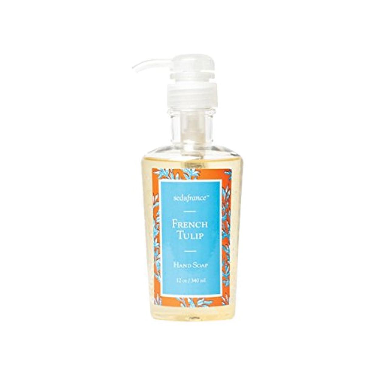 考えたゴミ箱を空にする導体Classic Toile French Tulip Liquid Hand Soap by Seda France