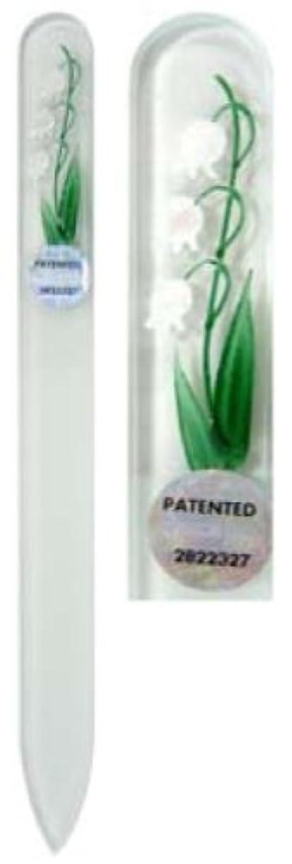 旅行代理店種をまくグリットBlazek(ブラジェク) ガラス製爪やすり ハンドペイントMサイズ 140mm チェコ製 すずらん