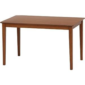 不二貿易 ダイニングテーブル スノア 幅120×奥行75×高さ70cm 天然木 ブラウン 96783