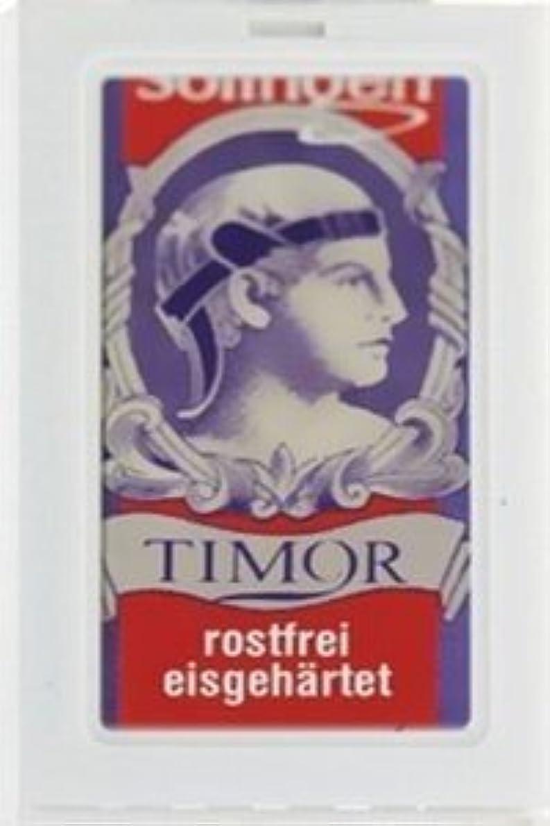 要塞危機意味するTimor Stainless Steel 両刃替刃 100枚入り(10枚入り10 個セット)【並行輸入品】