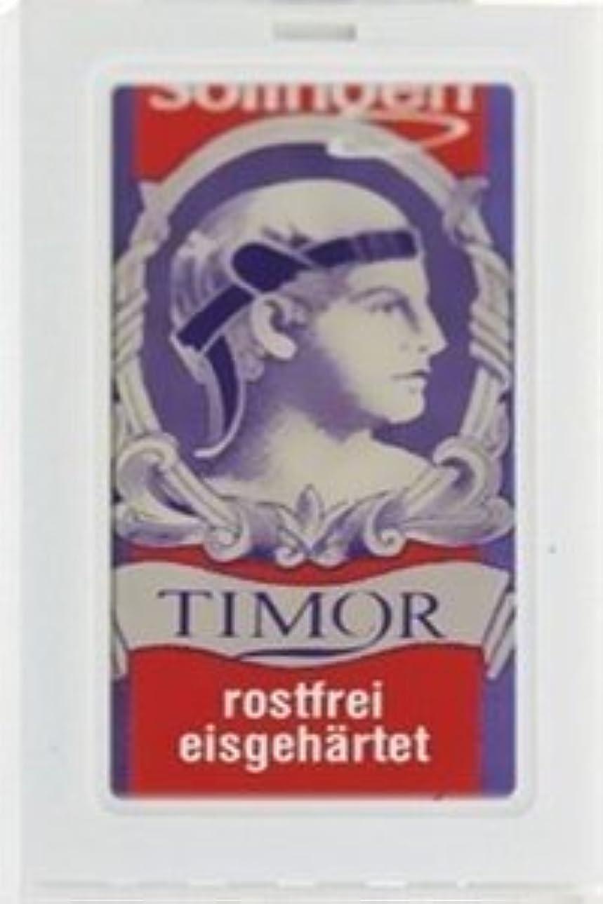 ダウンタウンプット模索Timor Stainless Steel 両刃替刃 100枚入り(10枚入り10 個セット)【並行輸入品】