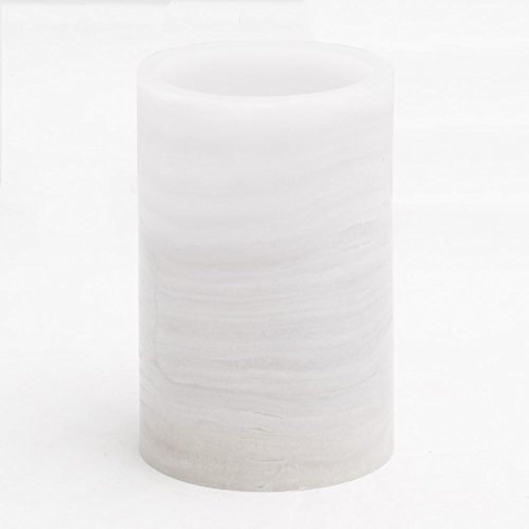 物理バクテリアそよ風リッチランドFlameless LED Pillar Candle大理石 M 91010_01