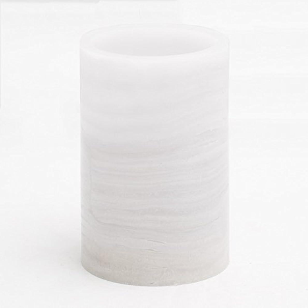 遠洋の磁石ありがたいリッチランドFlameless LED Pillar Candle大理石 M 91010_01
